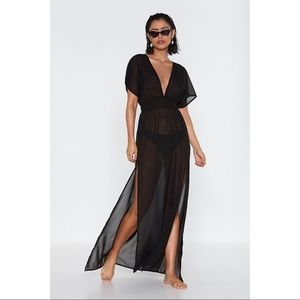 ASOS Swim Tough Slit Cover-Up Maxi Dress EUC